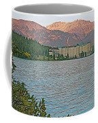 Lake Louise Chateau At Sunset In Banff Np-alberta Coffee Mug