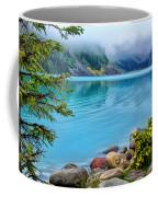 Lake Louise On A Cloudy Day Coffee Mug