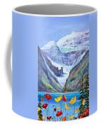 Lake Louise Poppies Coffee Mug