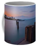 Lake Michigan Pylons Sunset Coffee Mug