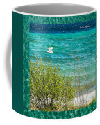 Lake Michigan Seagull In Flight Coffee Mug