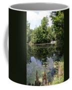 Lake On The Magnolia Plantation With White Bridge Coffee Mug