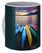 Lake Quinault Kayaks Coffee Mug by Inge Johnsson
