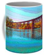 Lake Redding Ca Digital Painting Coffee Mug