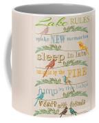 Lake Rules With Birds-c Coffee Mug