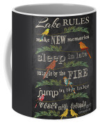 Lake Rules With Birds-d Coffee Mug