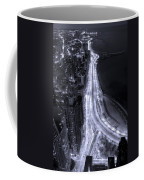 Lake Shore Drive Aerial  B And  W Coffee Mug