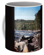 Lake Superior Shoreline Abstract Coffee Mug