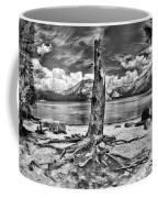Lake Tenaya Giant Stump Black And White Coffee Mug