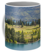 Lake Wakatipu And Queenstown Golf Course Coffee Mug