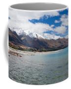 Lake Wakatipu And Snowy New Zealand Mountain Peaks Coffee Mug