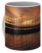 Lake Washington With Mount Rainier And Marina Coffee Mug