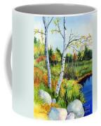 Lakeside Birches Coffee Mug