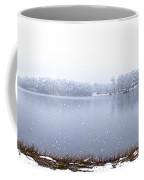 Lakeside In The Winter Snow Coffee Mug