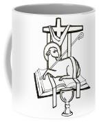 Lamb And Book Coffee Mug
