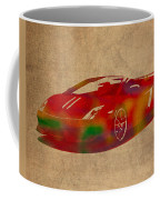 Lamborghini Gallardo 2013 Classic Sports Car Watercolor On Worn Distressed Canvas Coffee Mug