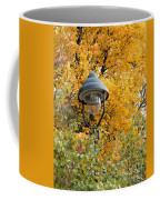 Lamp In The Autumn Leaves Coffee Mug