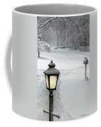 Lamppost In Snow Coffee Mug
