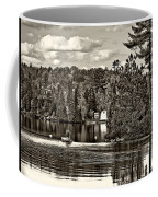 Land Of Lakes Sepia Coffee Mug