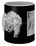 Landing Site On Comet 67pc-g In Context Coffee Mug