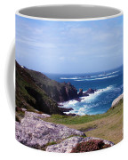 Land's End And Longships Lighthouse Cornwall Coffee Mug by Terri Waters