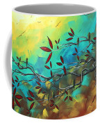 Landscape Bird Original Painting Family Time By Madart Coffee Mug