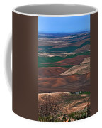 Landscape Of Rolling Farmland Steptoe Butte Washington Art Prints Coffee Mug