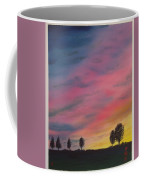 Landscape Sunset In Memenbetsu Cho Japan Coffee Mug