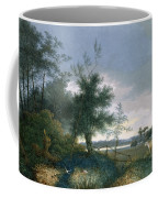 Landscape With A Fox Chasing Geese Coffee Mug