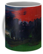 Landscape With A Red Sky Oil On Canvas Coffee Mug