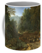 Landscape With A Shepherd And His Flock Coffee Mug