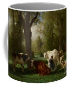 Landscape With Cattle And Sheep Coffee Mug