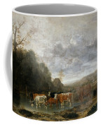 Landscape With Cattle Coffee Mug