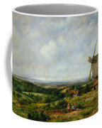 Landscape With Figures By A Windmill Coffee Mug by Frederick Waters Watts