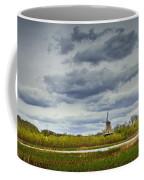 Landscape With The Dezwaan Dutch Windmill On Windmill Island In Holland Michigan Coffee Mug