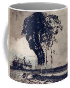 Landscape With Three Trees Coffee Mug by Victor Hugo