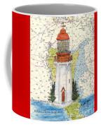 Langara Pt Lighthouse Bc Canada Nautical Chart Map Art Coffee Mug
