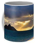 Lanikai Beach Sunrise Panorama 2 - Kailua Oahu Hawaii Coffee Mug