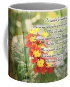Lantana Greeting Card With Verse Coffee Mug