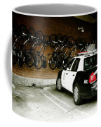 Lapd Cruiser And Police Bikes Coffee Mug by Nina Prommer