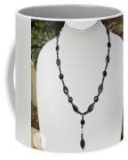 Lapis Lazuli And Black Onyx Lariat Necklace 3675 Coffee Mug