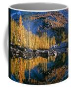 Larch Tree Reflection In Leprechaeun Lake  Coffee Mug