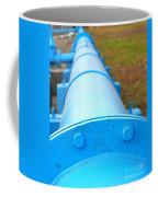 Large Blue Pipeline Coffee Mug