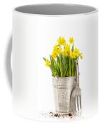 Large Bucket Of Daffodils Coffee Mug by Amanda Elwell