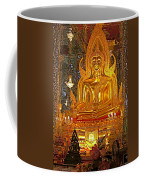 Large Buddha Image In Wat Tha Sung Temple In Uthaithani-thailand Coffee Mug