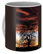 Large Cottonwood At Sunset Coffee Mug