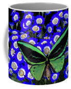 Large Green Butterfly Coffee Mug