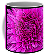 Large Pink Dahlia Retro Style Coffee Mug