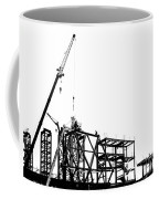 Large Scale Construction In Outline Coffee Mug