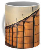 Large Scale Industrial Greenhouse Lit By Sunet Coffee Mug